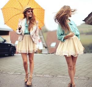 Зонтик, как атрибут модницы