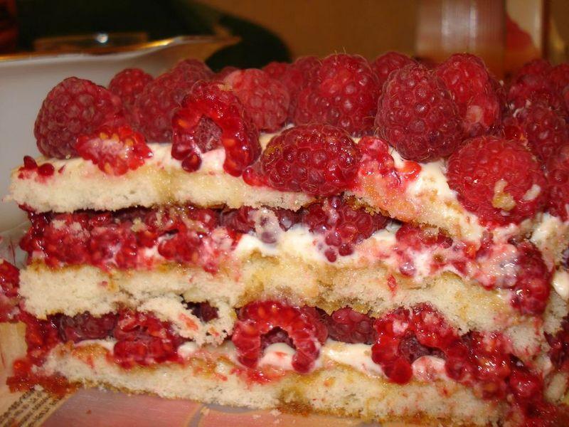 Торт фисташковый с малиной рецепт