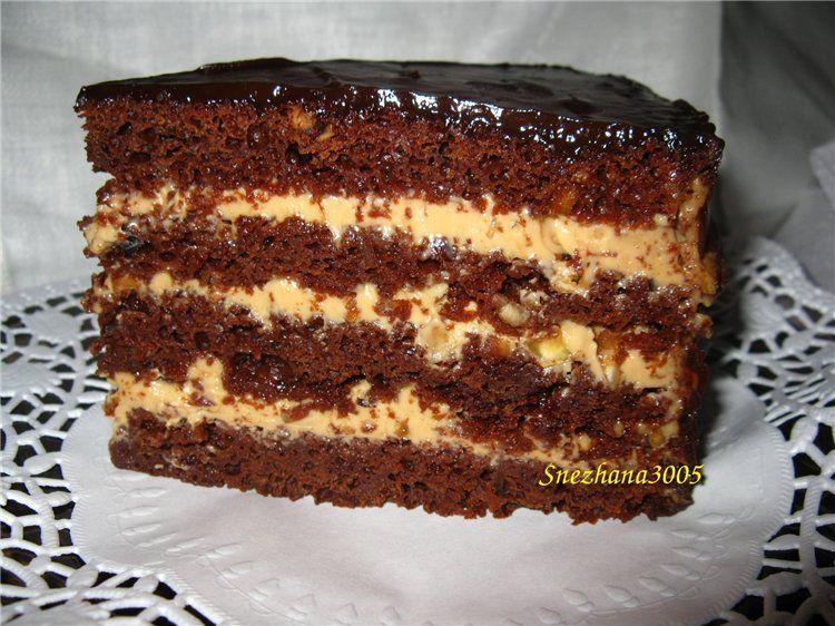 Шоколадный бисквитный торт рецепт в домашних