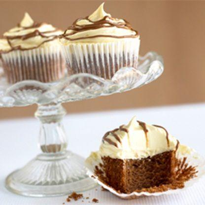 Шоколадные кексы с кремом