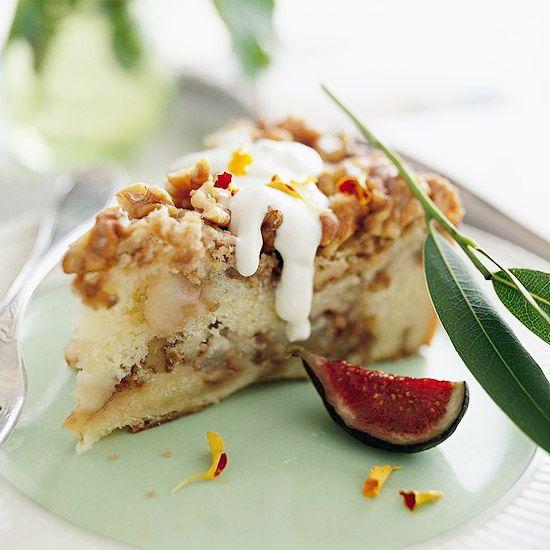 Сметанный пирог с грушами